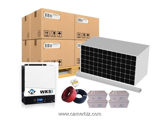 Self-consumption kit 12 panels 5kVA with storage - 10361