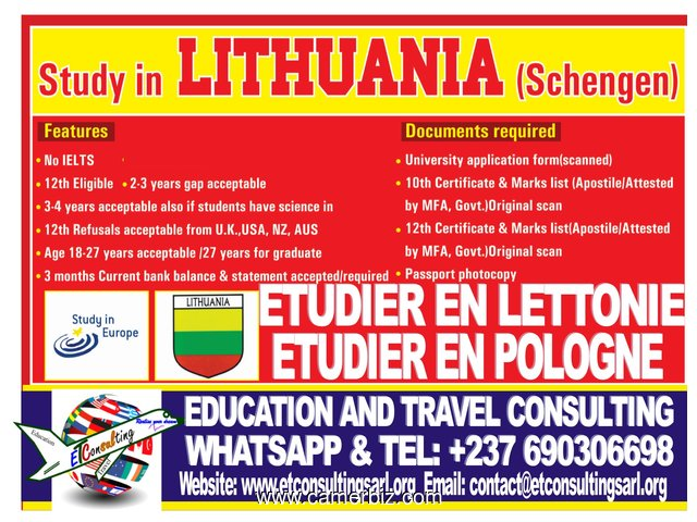 DON'T MISS OUT OHH!!!!!!!!!!!!!!!!!!!!!!!!STUDY IN LITHUANIA - 1388