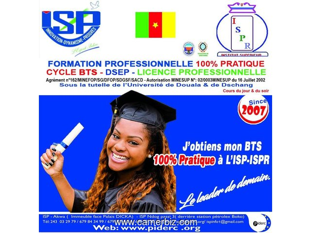 Formation Professionnelle-Cycle BTS-DSEP à l'ISP PIDERC - 1443