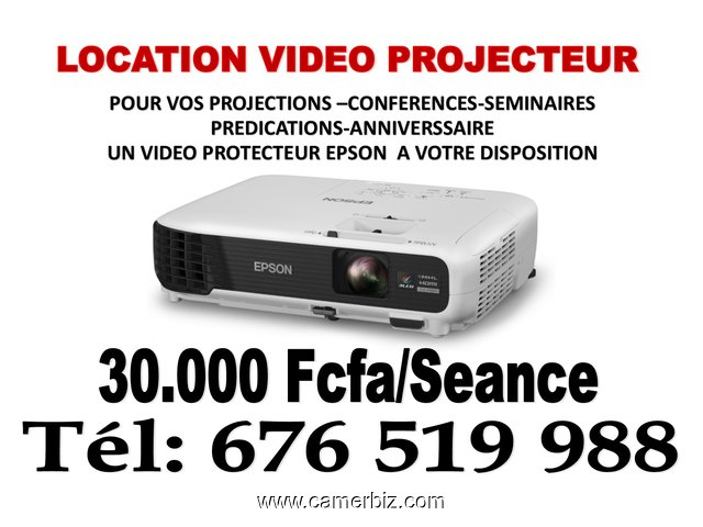 VIDEO PROJECTEUR EN LOCATION POUR FORMATION CONFERENCE ANNIVERSSAIRE PREDICATION PROJECTION  - 2287