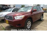 11,300,000FCFA-TOYOTA HIGHLANDER SPORT-LIMITED- 4X4WD-VERSION 2008-OCCASION DES ETATS UNIS-100% FULL