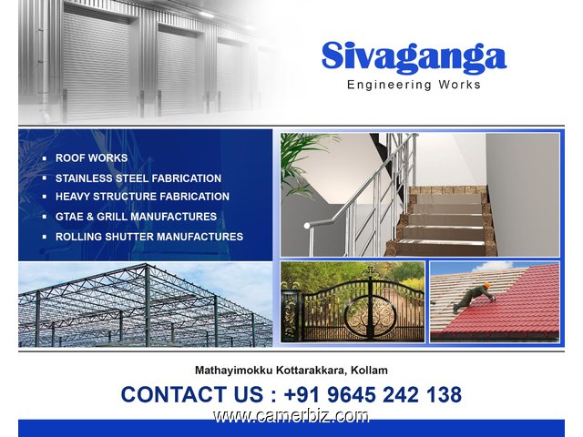Best Stainless Steel Fabrication Works in Kollam Pathanamthitta Trivandrum Thiruvalla Adoor Attingal - 2636