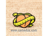 Yellow Peach Custom Enamel Pins