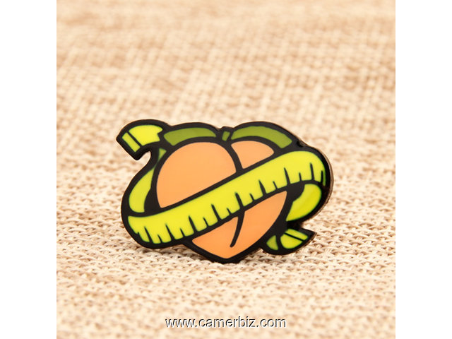 Yellow Peach Custom Enamel Pins - 3072