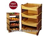 Rattan Eco 4 Pcs Vegetable Rack - 3099