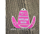 Outlaw Dash 5K Custom Race Medals