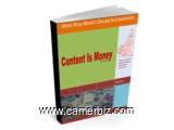 Content Is Money - Book written to train Cameroonians how to make money online being in Cameroon  - 3322