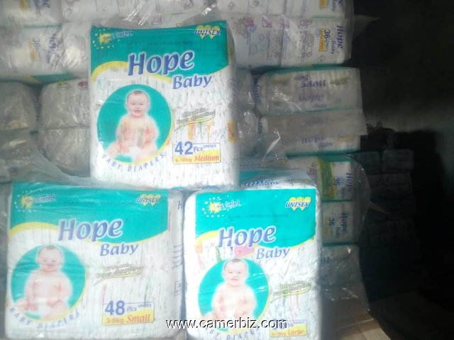 Couches Hope Baby en cartons. Tailles Small, Medium et large - 3368
