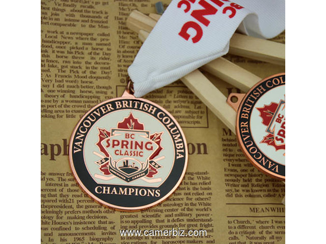 Hockey Tournament Custom Medals - 3565