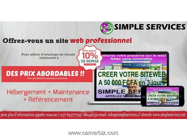 CREATION ET HEBERGEMENT DE SITES WEB - 3892