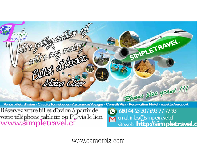billet d'avion pas chere avec simple travel - 5549