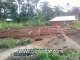 A plot with a G+1 storey building foundation