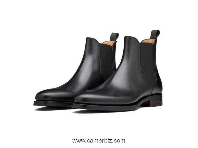 Bottines noir 100% cuir - 5763