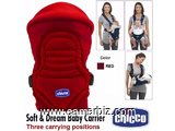 Porte-bébé Chicco Soft & Dream 3 positions. Couleur bleue ou rouge - 6100