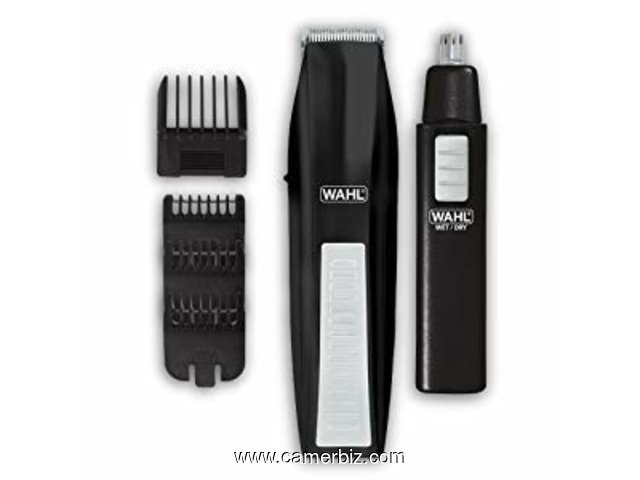 Wahl 5537-1801 Battery Operated Beard Trimmer with Bonus Trimmer - 6337