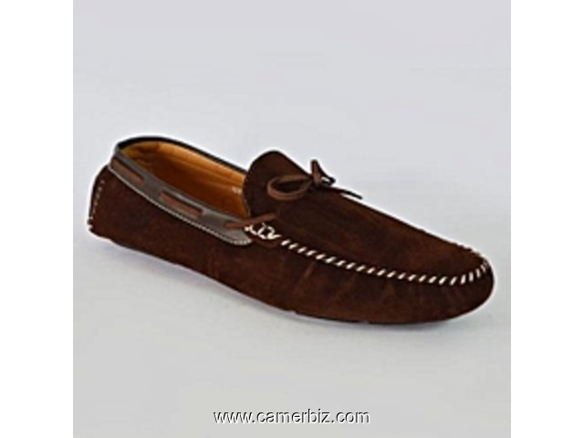 Mocassins En Daim - Marron - 6654