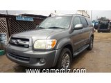 7,800,000FCFA-TOYOTA SEQUOIA LIMITED-VERSION 2005-OCCASION DES ETATS UNIS-ARRIVAGE!