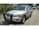 4,200,000FCFA-4X4WD-TOYOTA HIGHLANDER-LIMITED-VERSION 2004-OCCASION DU CAMEROUN-FULL OPTION