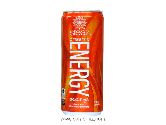 STEAZ ORANGE ENERGY DRINK - 9019