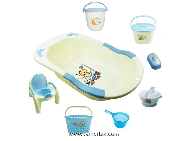 Ensemble bassine bébé. Disponible en bleu - 9286