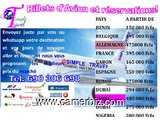 RESERVATION DE  BILLET  D'AVION - 9391