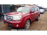 6,500,000FCFA-HONDA PILOT 4X4WD-VERSION 2010-OCCASION EN OR !-8PLACES-FULL OPTION